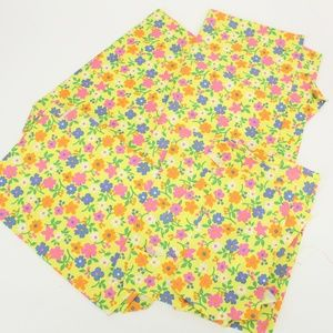 Vintage Bright Floral 70's Fabric